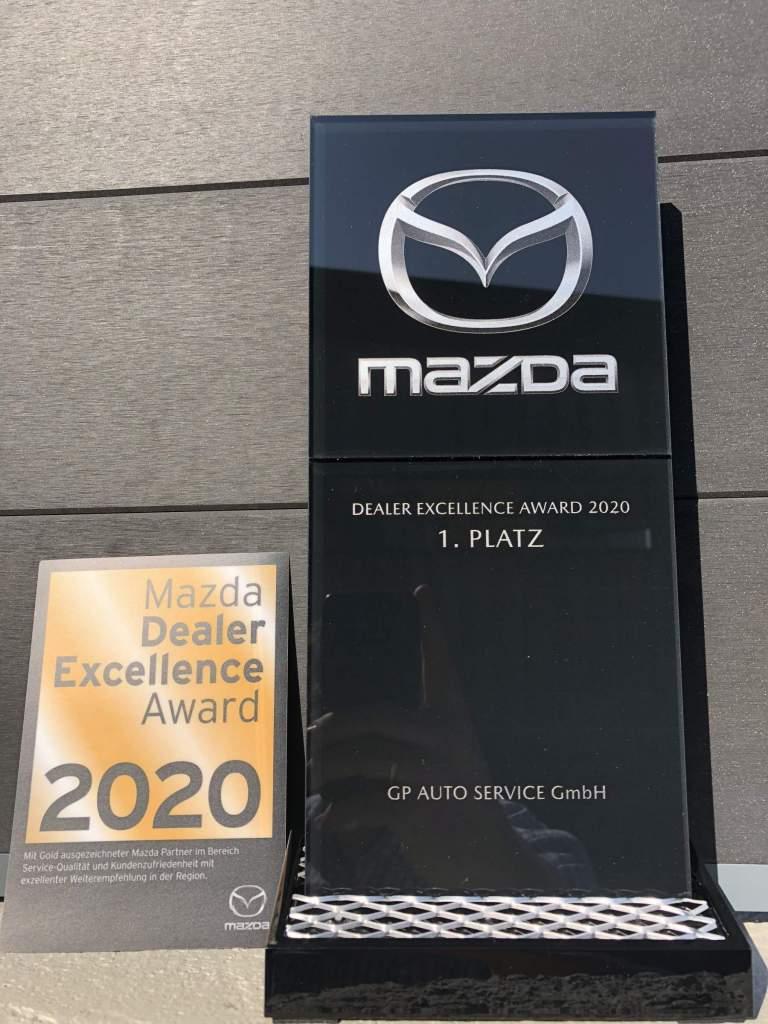 1. Platz - Mazda Dealer Excellence Award 2020